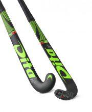 Dita FiberTec C50 J-Shape Lowbow Green/Black zaalhockeystick