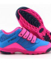 Brabo Velcro Blue / Pink JR hockeyschoenen met klittenbandsluiting