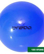Brabo 120 stuks wedstrijd hockeybal glad blauw