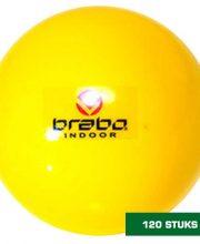 Brabo 120 stuks zaalhockeybal geel