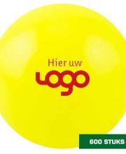 Uw logo op 600 zaalhockeybal geel