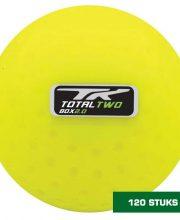 TK 120 stuks 2.0 Plus Dimple hockeybal geel