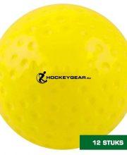 Hockeygear.eu dozijn wedstrijd hockeybal dimple geel