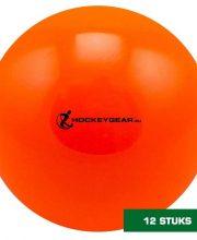 Hockeygear.eu dozijn zaalhockeybal oranje