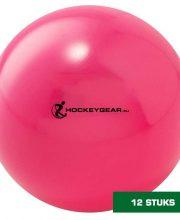 Hockeygear.eu dozijn zaalhockeybal roze