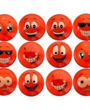 Dozijn Hockeybal Emoticon / Smiley | Orange