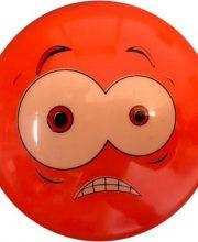 Hockeybal Emoticon / Smiley | Orange Fear