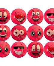 Dozijn Hockeybal Emoticon / Smiley | Pink