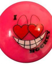Hockeybal Emoticon / Smiley | Pink I love Hockey