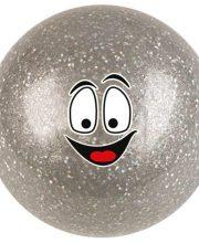 Hockeygear.eu hockeybal Emoticon | glitter zilver smile