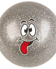 Hockeygear.eu hockeybal Emoticon | glitter zilver tongue