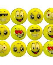 Dozijn Hockeybal Emoticon / Smiley | Yellow