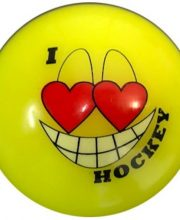 Hockeybal Emoticon / Smiley | Yellow I love Hockey
