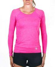 Osaka Tech Knit Long Sleeve Tee Women – Pink Melange | 40% Discount Deals