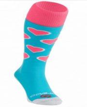Brabo Socks Harts – Aqua/Pink